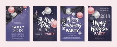 Folheto do ano novo e do Natal, inseto, convite Imagem de Stock Royalty Free