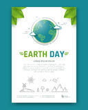 Folheto do Dia da Terra ilustração stock