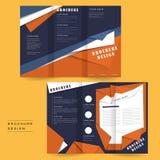 Folheto do estilo do origâmi ilustração stock
