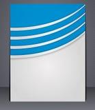 Folheto do negócio com elementos das linhas Fotografia de Stock