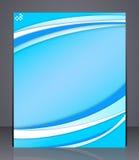 Folheto do negócio. Molde abstrato azul w da disposição Imagens de Stock