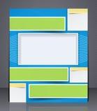 Folheto do negócio da disposição. Molde, ou um compartimento  Foto de Stock Royalty Free