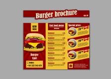 Folheto do restaurante do alimento do placemat do menu, projeto do molde do menu Molde criativo do jantar do vintage com gráfico  ilustração stock