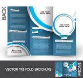 Folheto dobrável em três partes do curso Foto de Stock Royalty Free