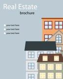 Folheto dos bens imobiliários ilustração stock