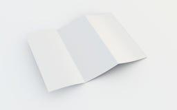 Folheto em branco Foto de Stock