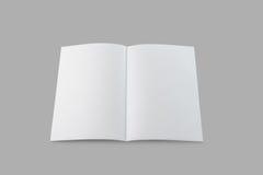 Folheto em branco imagens de stock royalty free