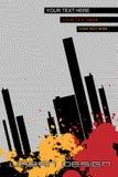 Folheto-fundo urbano do projeto - vetor Imagem de Stock