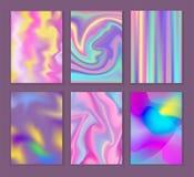 Folheto holográfico universal da ilustração da superfície do fundo das suficiências de cor do sumário da textura do borrão do vet ilustração royalty free