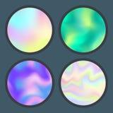 Folheto holográfico universal da ilustração do vetor da superfície do fundo das suficiências de cor do sumário da textura do borr Fotos de Stock Royalty Free