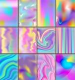Folheto holográfico universal da ilustração da superfície do fundo das suficiências de cor do sumário da textura do borrão do vet ilustração do vetor