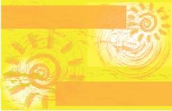 Folheto incorporado amarelo do inseto do evento de Sun Fotografia de Stock