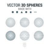 Folheto, inseto com grupo da esfera 3D de formas geométricas Vect Imagem de Stock