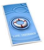 Folheto Lifebouy do seguro de vida Imagem de Stock Royalty Free