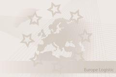 Folheto logístico de Europa - fundo Fotografia de Stock Royalty Free