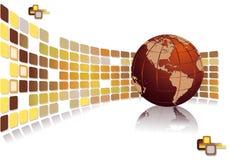 Folheto moderno para o negócio global do desenvolvimento ilustração stock