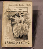 Folheto para a casa de Churchill Downs de Kentucky Derby em Louisville EUA Foto de Stock Royalty Free