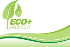Folheto verde de Eco+ Imagens de Stock Royalty Free
