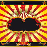 Folheto vermelho e amarelo do circo Imagens de Stock Royalty Free