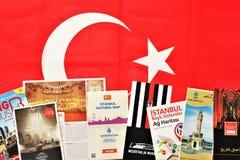 Folhetos de Turquia Útil preparar uma viagem imagem de stock