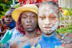 Foliões do j'Ouvert do carnaval imagem de stock