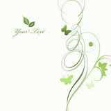 Foliage backgroun with a place for text Royalty Free Stock Images
