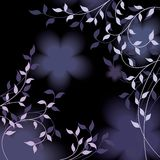 Foliage background. Vector violet tone background with foliage Stock Illustration