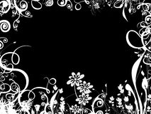 Foliage border over black Royalty Free Stock Images