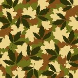 Foliage camouflage seamless pattern Royalty Free Stock Photos