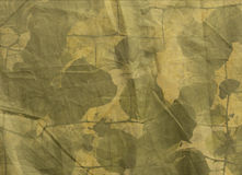 Foliage on creased canvas Royalty Free Stock Photography