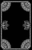 Foliage decoration with frame on black Royalty Free Stock Image