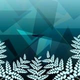 Foliage geometric background Stock Photography