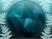 Foliage geometric background Stock Images