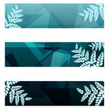 Foliage geometric banners Royalty Free Stock Photography