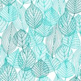 Foliage green leaves seamless pattern Royalty Free Stock Image