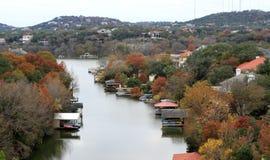 Foliage on Lake Austin Stock Photos