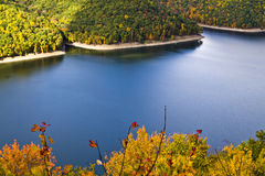 Foliage, lake, trees. A photo with lake, foliage, trees taken in west virginia royalty free stock images