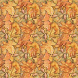 Foliage painting seamless pattern. Fall autumn leaves background Royalty Free Stock Photos
