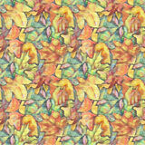 Foliage painting seamless pattern. Fall autumn leaves background Royalty Free Stock Photography