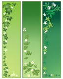 Foliage panels. An illustration of three foliage panels in different shades of green Vector Illustration