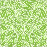 Foliage Pattern - Green and White Colors Stock Photo