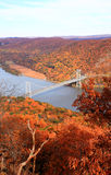 The foliage scenery at Hudson River region Stock Images