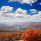 The foliage scenery from the top of Bear Mountain Stock Photo