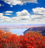 The foliage scenery from the top of Bear Mountain Royalty Free Stock Photography