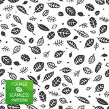 Foliage seamless pattern Royalty Free Stock Photos
