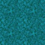 Foliage Seamless Pattern. Cyan Watercolor. Foliage Seamless Pattern. Cyan Watercolor Abstract Background. Hand Painted ecstatic Art Print. Foliage Repeating Stock Image