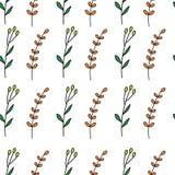 Foliage seamless pattern vector illustration