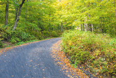 Foliage season in New England, USA.  Royalty Free Stock Images