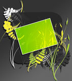 Foliage template. A beautiful art where you can Insert your text in the green space vector illustration