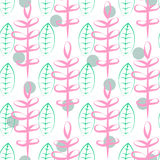 Foliage vector seamless pattern Stock Images